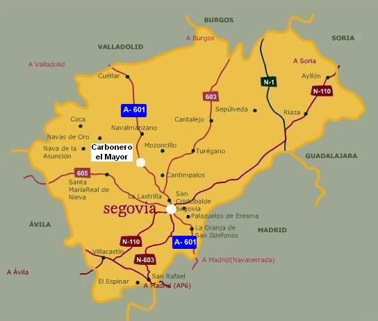 Provincia De Segovia Mapa.Documento Sin Titulo